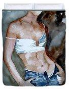 Watercolor  Nude 100405 Duvet Cover