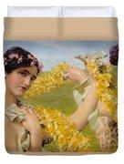 When Flowers Return Duvet Cover