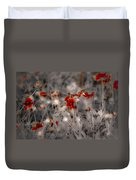 Wildflowers Of The Dunes Duvet Cover by DigiArt Diaries by Vicky B Fuller