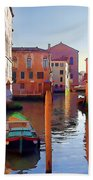Late Afternoon In Venice Hand Towel