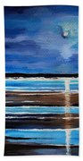 Midnight At The Beach Bath Towel