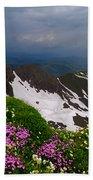 The Alps Wildflowers Bath Towel