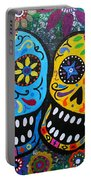 Couple Day Of The Dead Portable Battery Charger by Pristine Cartera Turkus