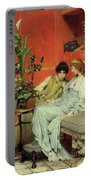 Confidences Portable Battery Charger by Sir Lawrence Alma-Tadema