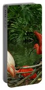 Flamingo And Scarlet Ibis Portable Battery Charger