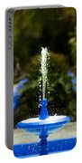 Fountain In Jardin Majorelle Morocco Portable Battery Charger
