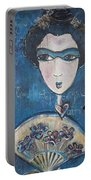 Geisha Love Triptych Portable Battery Charger