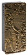 Hieroglyph At Edfu Portable Battery Charger by Darcy Michaelchuk