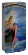 Mermaid Rainbow Wishes Portable Battery Charger
