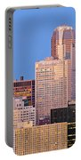 Moon Over Pittsburgh 2 Portable Battery Charger by Emmanuel Panagiotakis