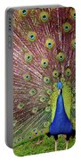 Peacock Portable Battery Charger by Carlos Caetano