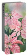 Pink Delight Portable Battery Charger by Deborah Ronglien