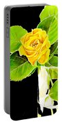 Rose In Vase Portable Battery Charger