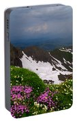 The Alps Wildflowers Portable Battery Charger