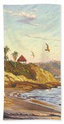 Heisler Park Rockpile At Twilight Beach Towel