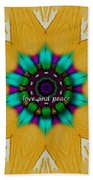 Love And Peace Art Beach Sheet