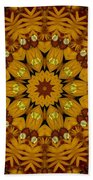 Popart Flowers Beach Towel