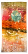 Branches And Brush Strokes Beach Towel