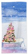Cape Cod Christmas Tree Beach Towel