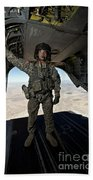 Ch-47 Chinook Crew Chief Stands Beach Towel