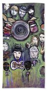 Chris Daniels And Friends Beach Towel by Laurie Maves ART