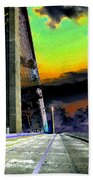 Dreaming Over The Skyway Beach Towel by David Lee Thompson