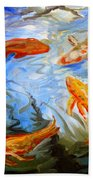 Fish Reflections Beach Towel