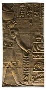 Hieroglyph At Edfu Beach Towel by Darcy Michaelchuk