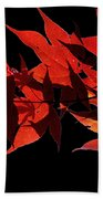 Leaves Of Red Beach Towel