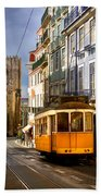 Lisbon Tram Beach Towel
