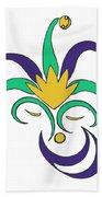 Mardi Gras Jester Beach Towel