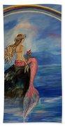 Mermaid Rainbow Wishes Beach Towel