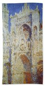 Monet: Rouen Cathedral Beach Towel