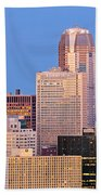 Moon Over Pittsburgh 2 Beach Towel by Emmanuel Panagiotakis