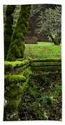 Mossy Fence 2 Beach Towel by Bob Christopher