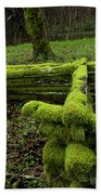 Mossy Fence 4 Beach Towel by Bob Christopher