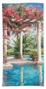 Poolside Garden Beach Towel