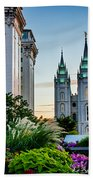 Slc Temple Js Building Beach Towel