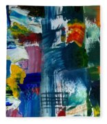 Abstract Color Relationships L Fleece Blanket