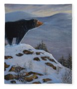 Last Look Black Bear Fleece Blanket