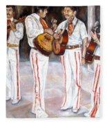 Mariachi  Musicians Fleece Blanket