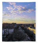 Sunset Row Homes Fleece Blanket