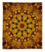 Popart Flowers Fleece Blanket