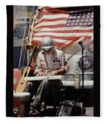 Born In The Usa Fleece Blanket