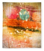 Branches And Brush Strokes Fleece Blanket