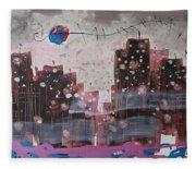Cityscape Fleece Blanket