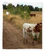 Colorado Calf Fleece Blanket