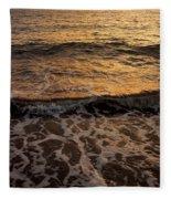 Cruise Ship Off The Beach Fleece Blanket