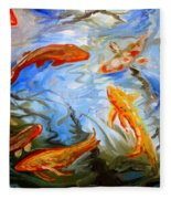 Fish Reflections Fleece Blanket