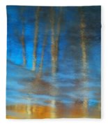 Ice Reflections Fleece Blanket